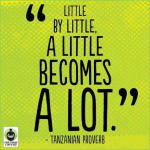 fair trade tanzanian proferb