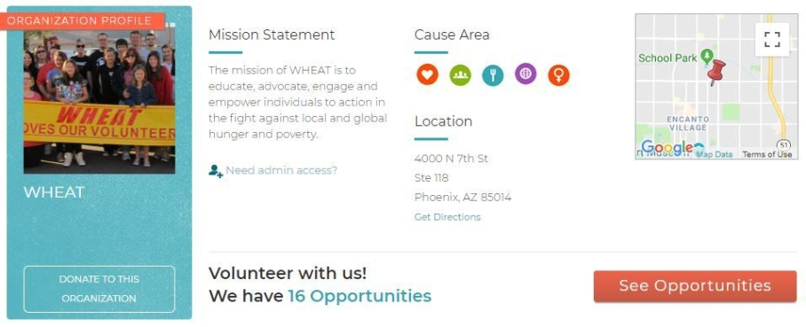 volunteer match for wheat